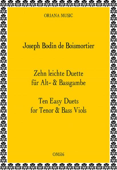 Boismortier, J.B. Bodin de (1691– 1755): 10 leichte Duette aus op. 66