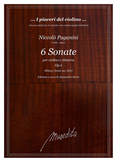 Paganini, Niccolò (1782–1840): 6 Sonate op. 2