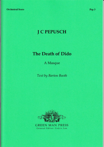 Pepusch, Johann Chr. (1667-1752): The Death of Dido<br>- score
