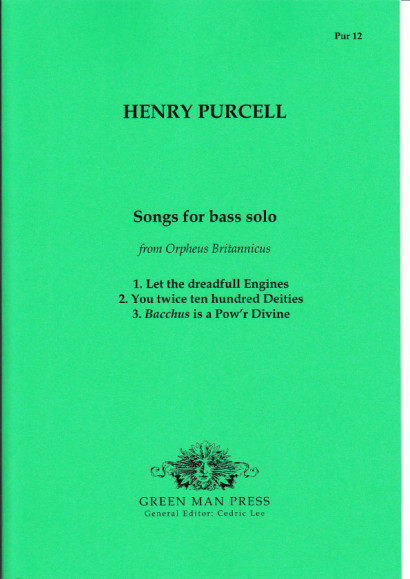 Purcell, Henry (1659-1695): Songs for Bass solo from Orpheus Britannicus