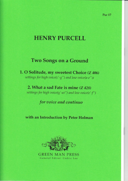 Purcell, Henry (1659-1695): Two Songs on a Ground