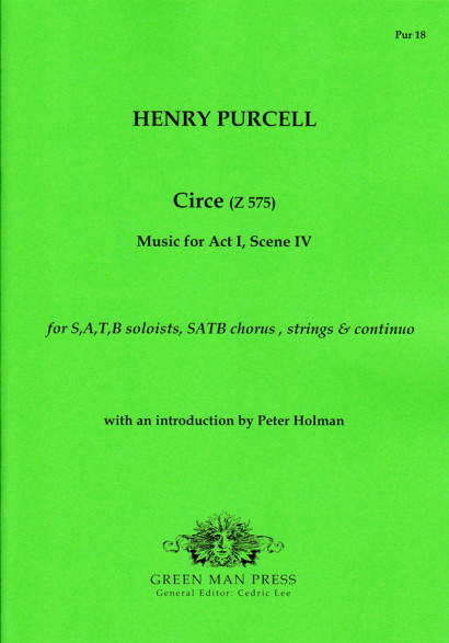 Purcell, Henry (1659–1695): Circe (Z 575)<br>–  Score & parts
