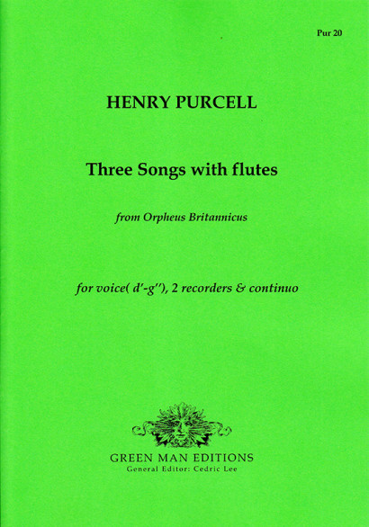 Purcell, Henry (1659–1695): 3 Songs with Flutes from Orpheus Britannicus