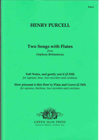 Purcell, Henry (1659-1695): Songs with Flutes
