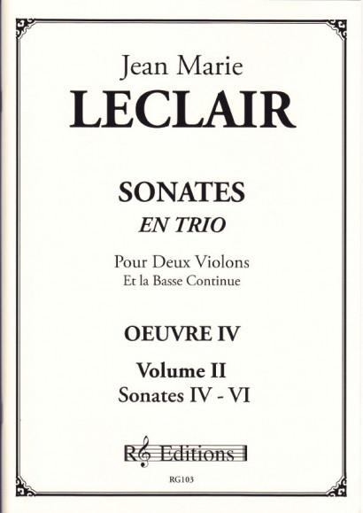 Leclair, Jean Marie (1697- 1764): Sonates en trio, op. 4<br>- Volume II Sonates 4-6