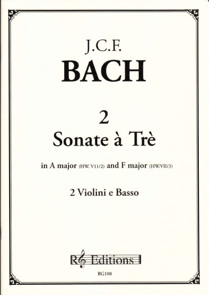 Bach, Johann Christoph Friedrich (1732-1795): 2 Sonatas