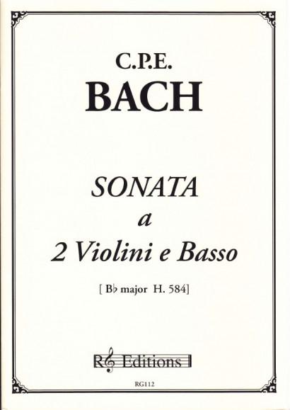 Bach, Carl Philipp Emanuel (1714-1788): Sonata a 2 Violini e Basso'