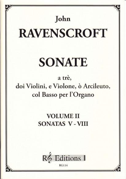 Ravenscroft, John (?-1708): Trio Sonatas op. 1<br>- Band II - Sonaten 5 - 8