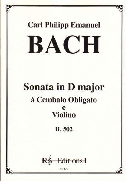 Bach, Carl Philipp Emanuel  (1714-1788): Sonate D-Dur, H 502