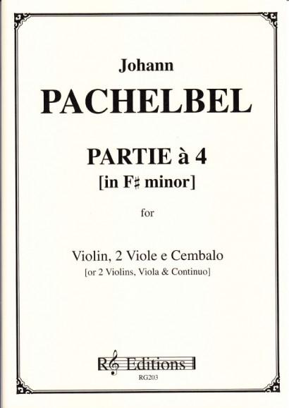 Pachelbel, Johann (1653-1706): Partie a 4 in fis-moll