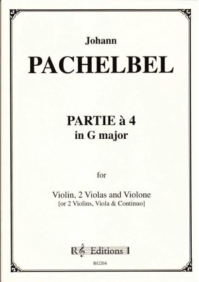 Pachelbel, Johann (1653-1706): Partie a 4 in G-Dur