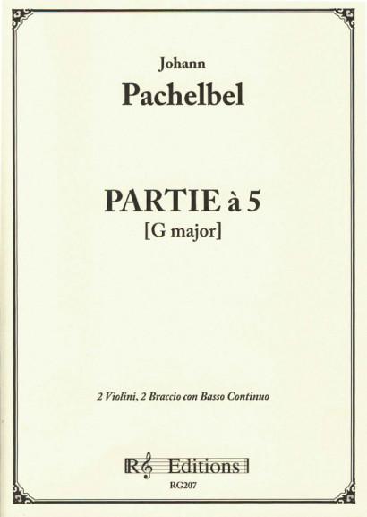 Pachelbel, Johann (1653-1706): Partie à 5 in G-Dur