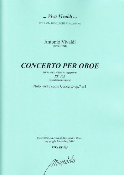Vivaldi, Antonio (1678–1741): Concerto B-Dur RV 465 op. 7, 1