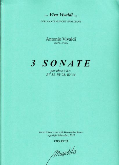Vivaldi, Antonio (1678–1741): Sonaten RV 53, 28, 34