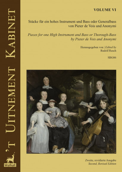 'T Uitnement Kabinet (Amsterdam 1646, 1649): 6 Pieces for Melody Instrument and Basso – Volume VI