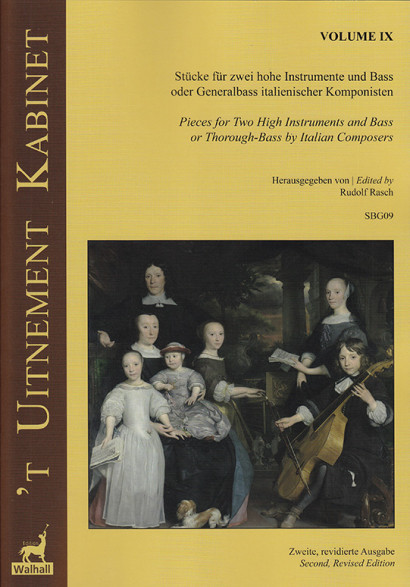'T Uitnement Kabinet (Amsterdam 1646, 1649): 9 Pieces by Italian Composers for 2 high instruments and Basso – Volume IX