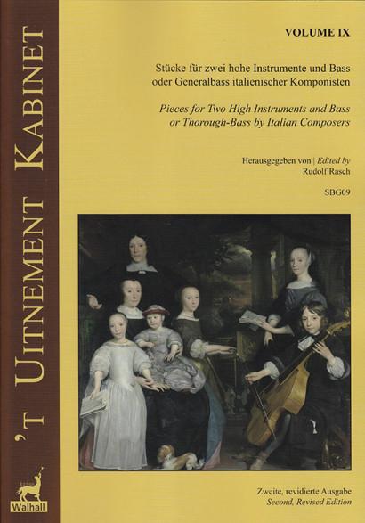 'T Uitnement Kabinet (Amsterdam 1646, 1649): 9 Werke italienischer Komponisten für 2 hohe Instrumente und Basso – Band IX