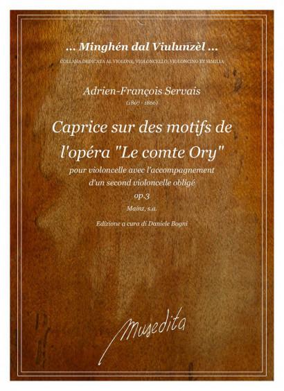 """Servais, Adrien-Francois (1807–1866): Caprice sur des motifs de l'opéra """"Le comte Ory"""" op. 3"""