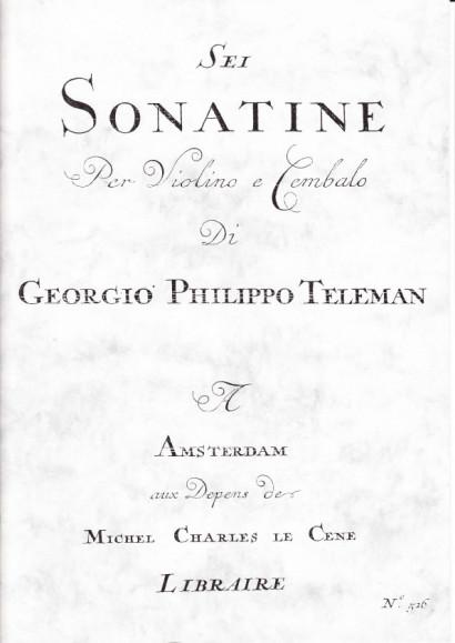 Telemann, Georg Philipp (1681-1767): Sei Sonatine