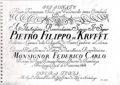 Platti , Giovanni Benedetti (1697-1763): Sei Sonate op. 3
