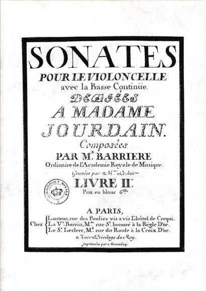 Barrière, Jean-Baptiste (1707 -1747): Sonates<br> Livre II