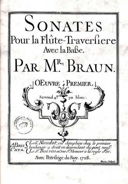 Braun, Jean Daniel (18th century): 6 Sonates