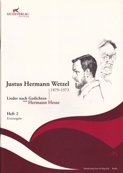 Wetzel, Justus Hermann (1879–1973): 42 Lieder nach Gedichten von Hermann Hesse - Band 2 (36 S.)