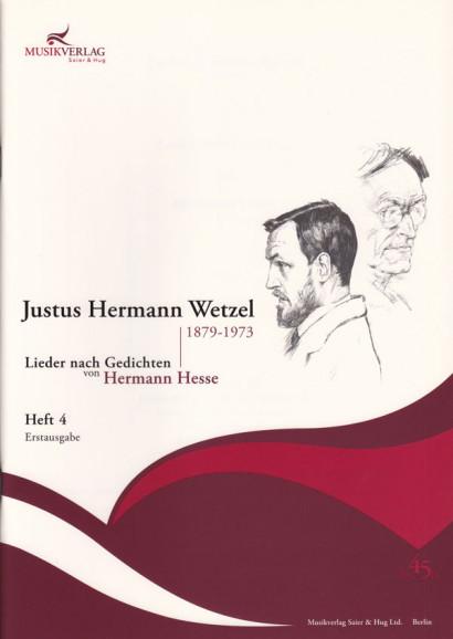 Wetzel, Justus Hermann (1879–1973): 42 Lieder nach Gedichten von Hermann Hesse - Band 4 (36 S.)