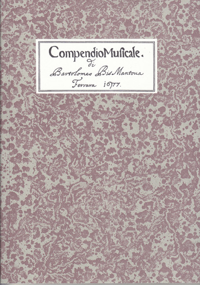Bismantova, Bartolomeo:Compendio musicale