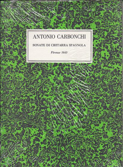 Carbonchi, Antonio (?–1640):Sonate di Chitarra Spagnola
