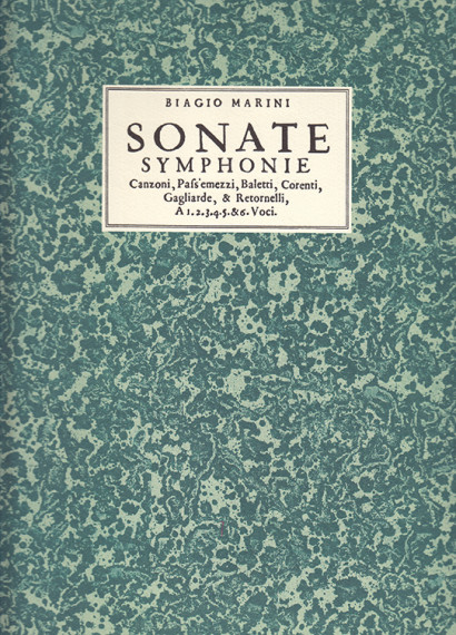 Marini, Biagio (1587–1665): Sonate, Symphonie, Canzoni op. 8