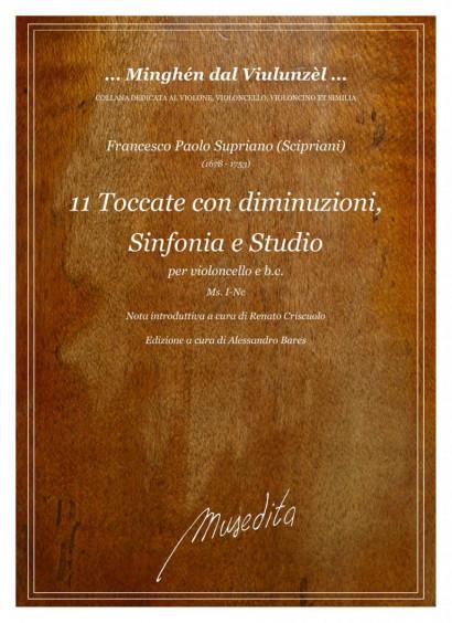 """Supriano (""""Scipriani""""), Francesco Paolo (1678–1753): 11 Toccate con diminuzioni, Sinfonia e Studio"""