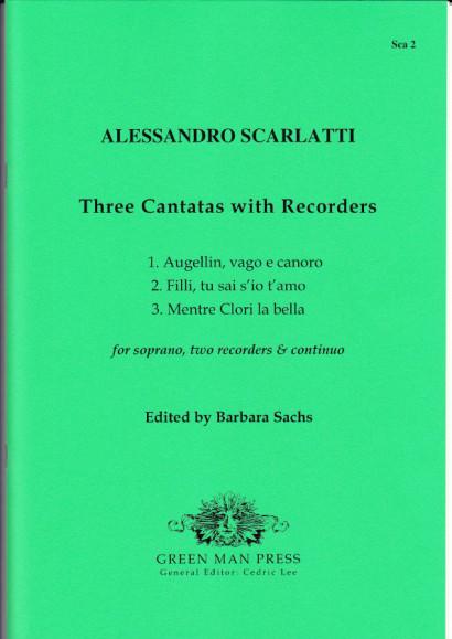 Scarlatti, Alessandro (1660-1725): Kantaten mit Blockflöten
