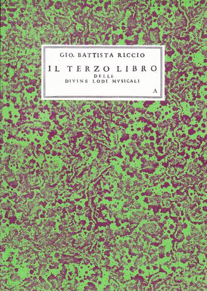 Riccio, Giovan Battista (16th/17th century): Il Terzo Libro