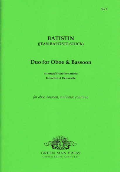 Stuck, Jean-Baptiste (1680–1755): Duo for Oboe and Bassoon