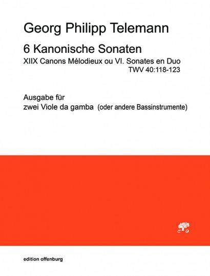Telemann, Georg Philipp (1681–1767): 6 Kanonische Sonaten