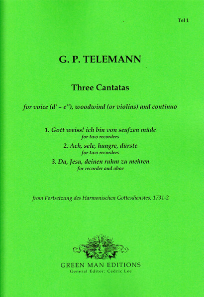 Telemann, Georg Philipp (1681–1767): Three Cantatas with Recorders