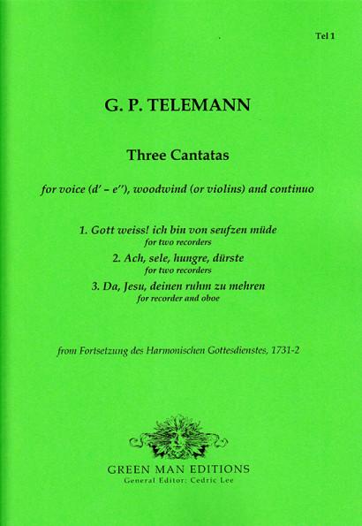 Telemann, Georg Philipp (1681–1767): Drei Kantaten mit Blockflöten