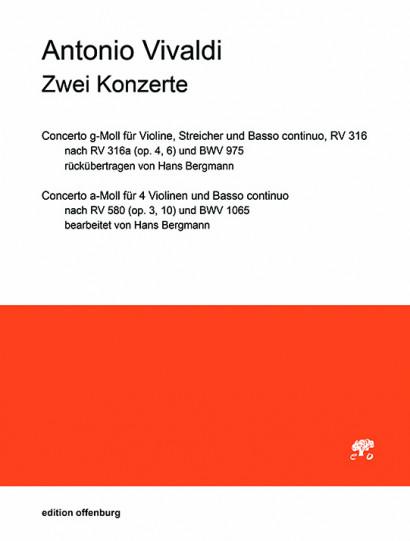 Vivaldi, Antonio (1678–1741): 2 Konzerte RV 316, 580 (Stimmen)