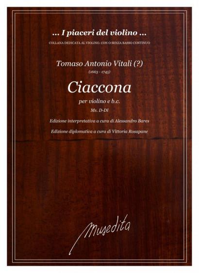 Vitali, Tomaso Antonio (1663–1745): Ciaccona