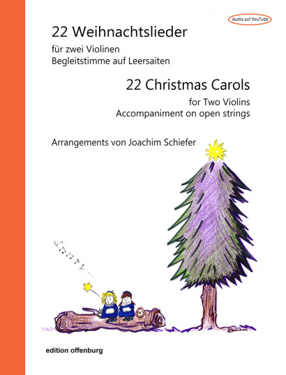 22 Christmas Carols for 2 Violins