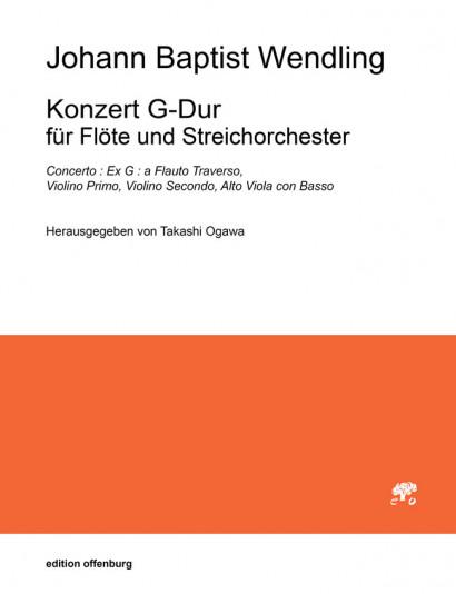 Wendling, Johann B. (1723–1797): Concert G Major – score