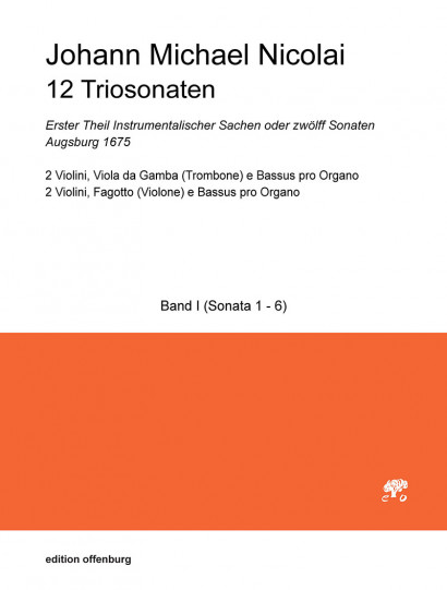 Nicolai, Johann Michael (1629–1685): 12 Triosonaten – Band 1