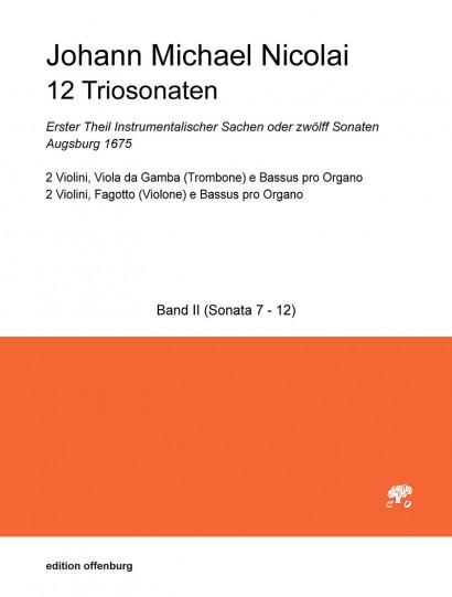 Nicolai, Johann Michael (1629–1685): 12 Triosonaten – Band 2