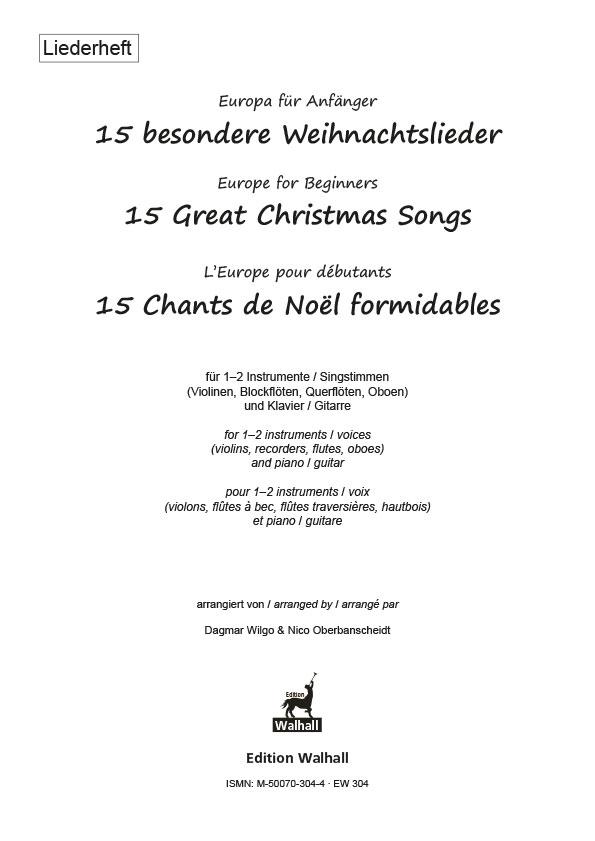 Tschechische Weihnachtslieder.Europa Für Anfänger 15 Besondere Weihnachtslieder Liederheft