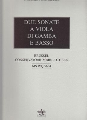 Bach, Carl Philipp Emanuel (1714–1788): Due Sonate WQ 136, 137