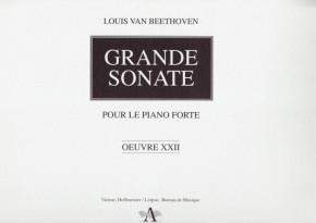 Beethoven, Ludwig van (1770-1827): Grande Sonate op. 22