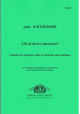 Anonymer Meister (17th century)/Alessandro Scarlatti ?: Chi sà dove è speranza?