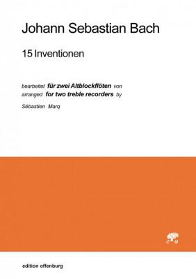 Bach, Johann Sebastian (1685–1750): 15 Inventionen, bearbeitet für zwei Altblockflöten