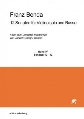 Benda, Franz (1709–1786): 12 Sonaten für Violino solo und Basso, Band IV